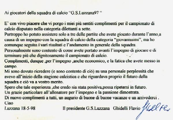 Lettera Flavio '98